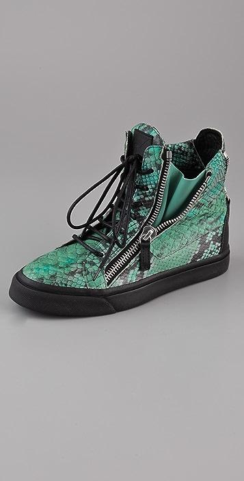 Giuseppe Zanotti Print Snake Sneakers