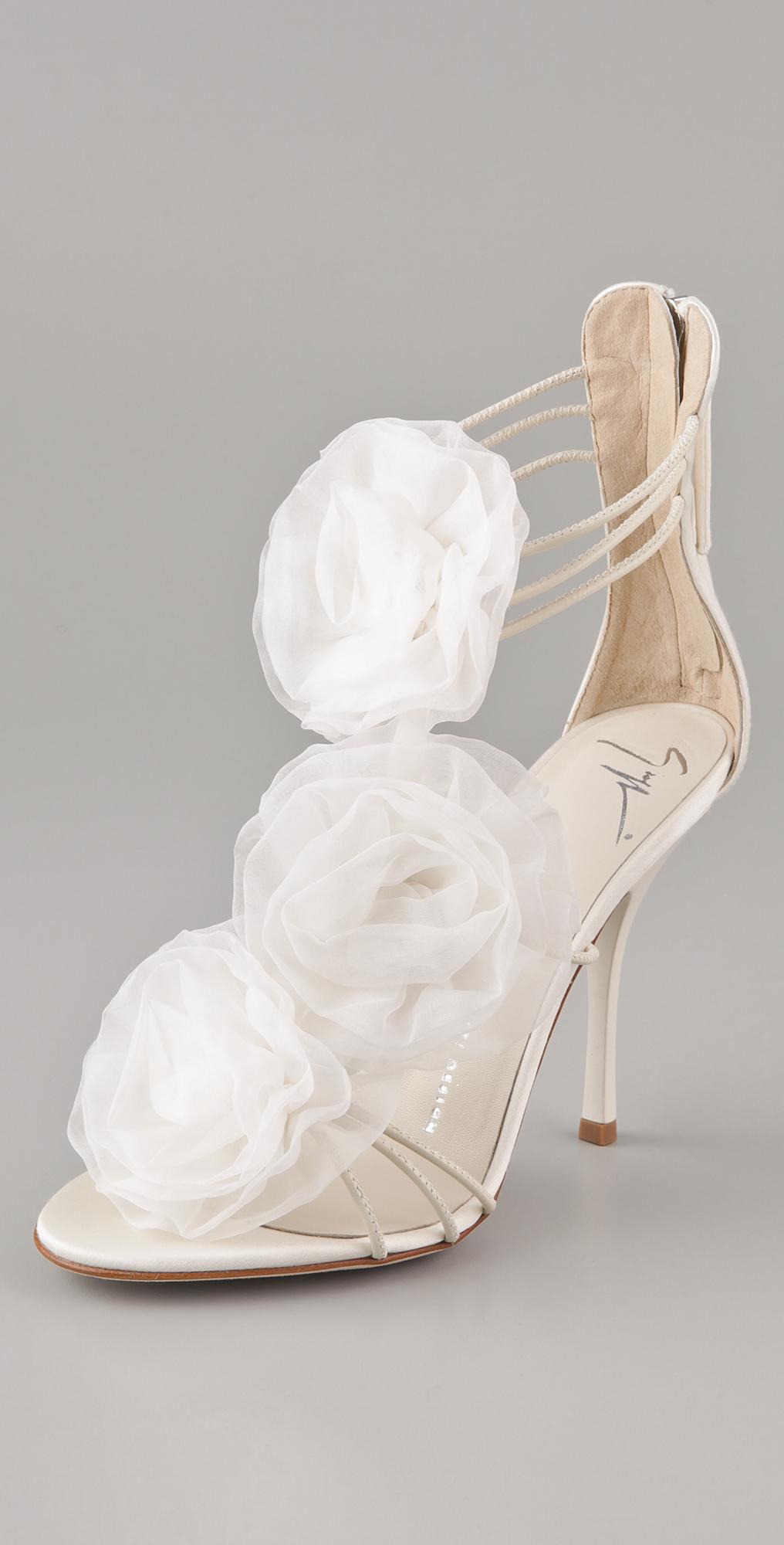 Giuseppe Zanotti Chiffon Flower Sandals | SHOPBOP