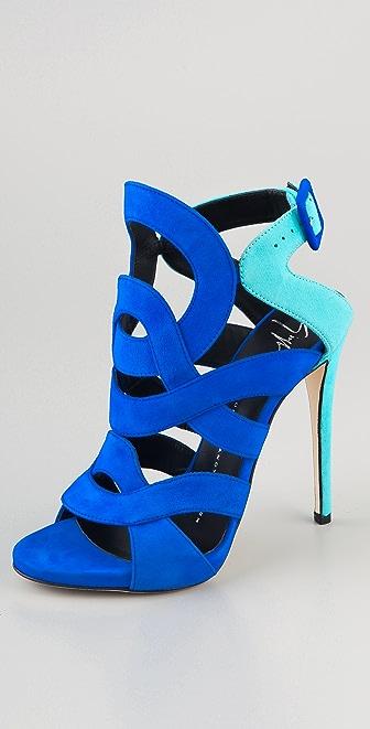 Giuseppe Zanotti Cutout Suede Sandals