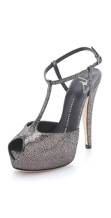 Giuseppe Zanotti T Strap Platform Sandals