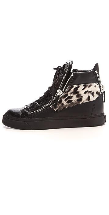 Giuseppe Zanotti Snow Leopard Sneakers