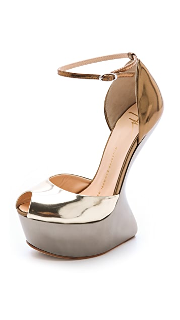 Giuseppe Zanotti Sculptured Wedge Pumps