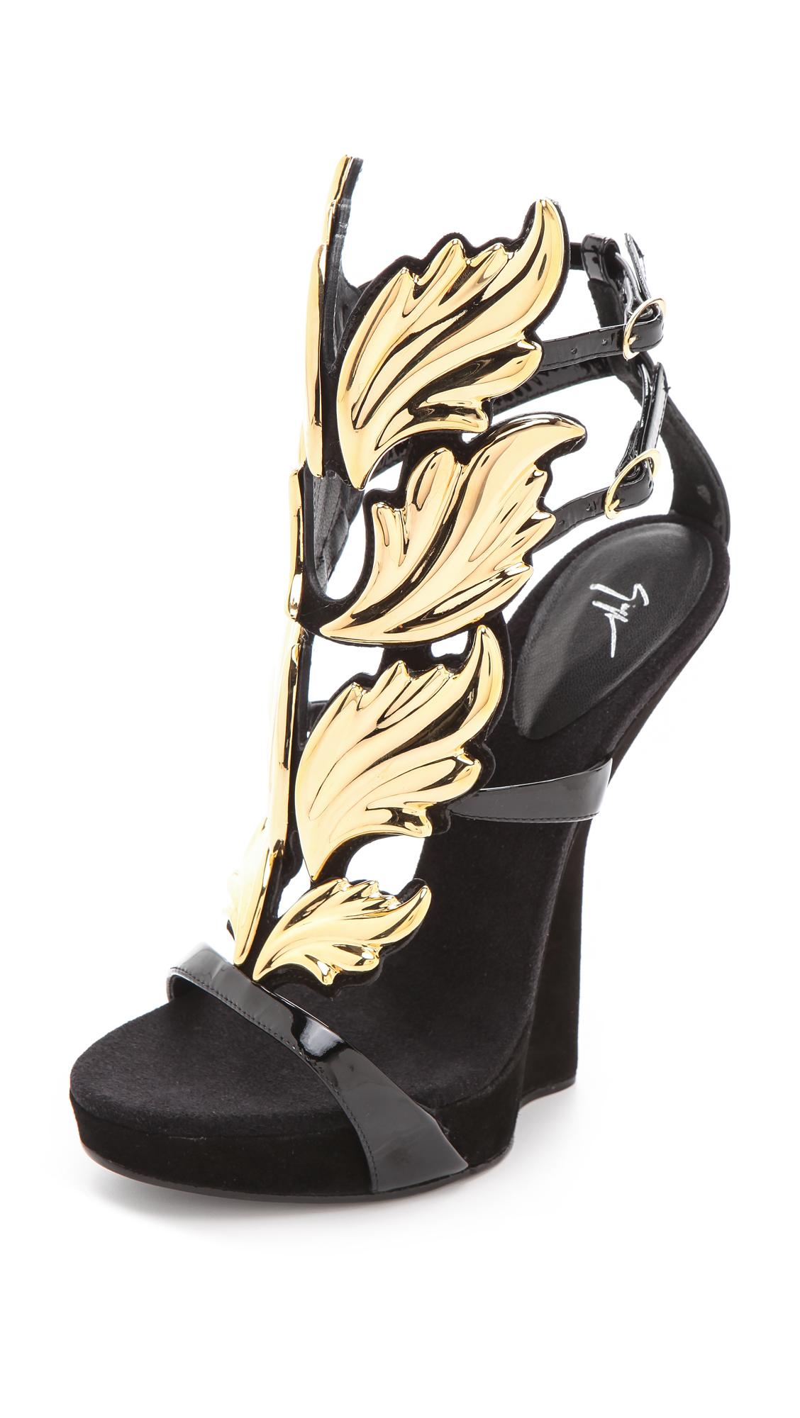 e6eec3e846473 Giuseppe Zanotti Baroque Leaf Sandals | SHOPBOP