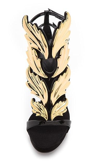 Giuseppe Zanotti Baroque Leaf Sandals