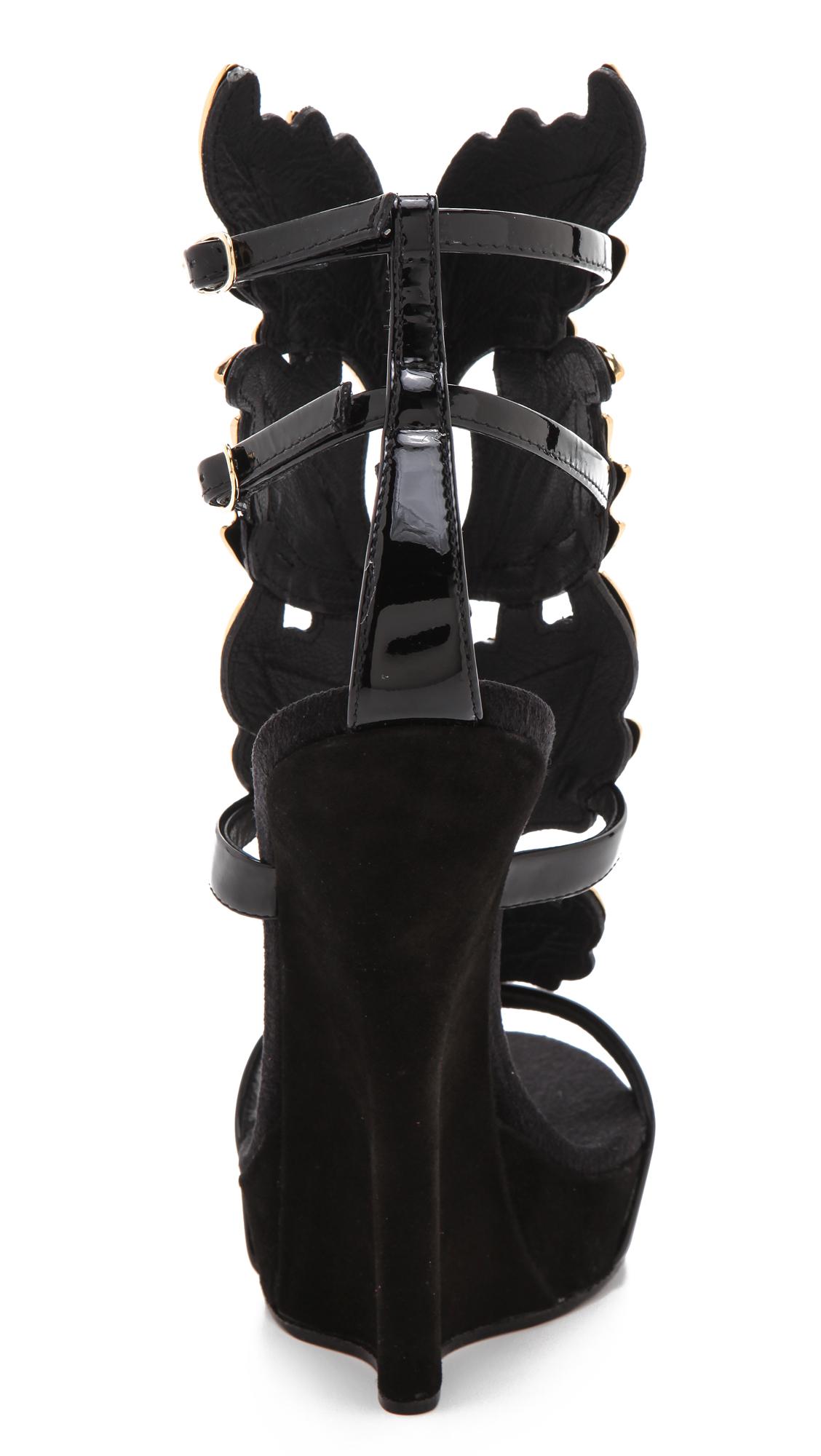 bcb8c39b2fa175 Giuseppe Zanotti Baroque Leaf Sandals