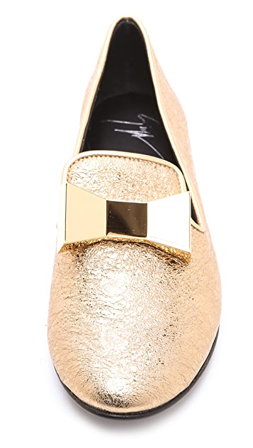 Giuseppe Zanotti Flats with Metal Bow