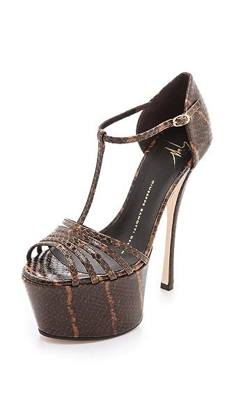 Giuseppe Zanotti T-Strap Platform Sandals