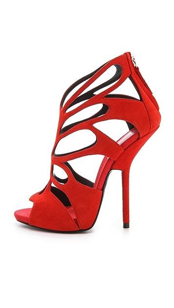 Giuseppe Zanotti Suede Cutout Heels