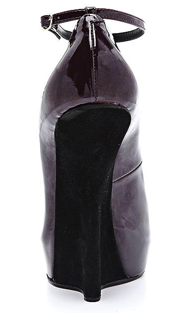 Giuseppe Zanotti Alien Peep Toe Wedges