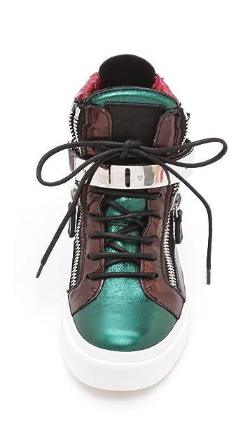 Giuseppe Zanotti London Metal Strap Sneakers
