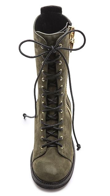 Giuseppe Zanotti Blok Suede Combat Boots