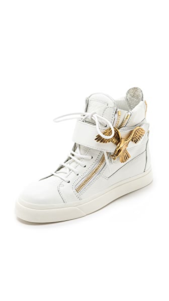 Giuseppe Zanotti Double Zipper Eagle Sneakers