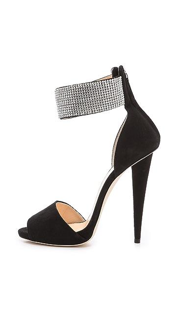 Giuseppe Zanotti Alien Embellished Strap Heels