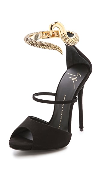 Giuseppe Zanotti Ankle Strap Snake Heels
