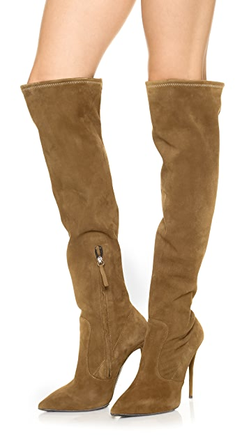Giuseppe Zanotti Over the Knee Suede Boots
