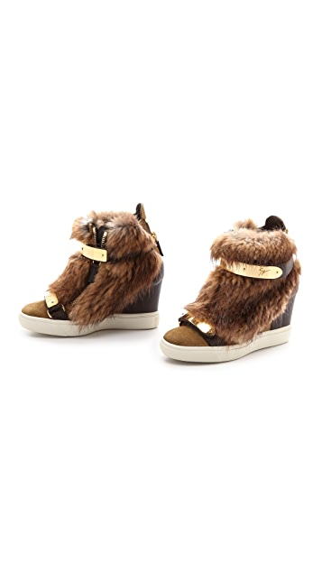 Giuseppe Zanotti Furry Sneakers