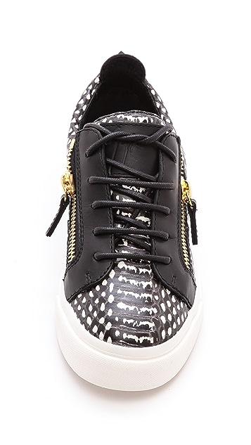 Giuseppe Zanotti Snake Print London Sneakers