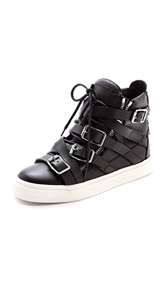 Giuseppe Zanotti Buckle London High Top Sneakers