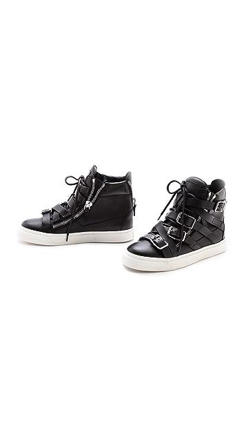 Giuseppe Zanotti Buckle London High Top Sneakers