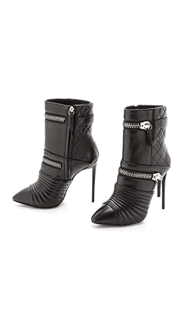 Giuseppe Zanotti Quilted Leather Zip Booties