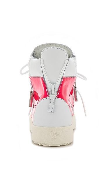 Giuseppe Zanotti London Two Tone Zip Sneakers