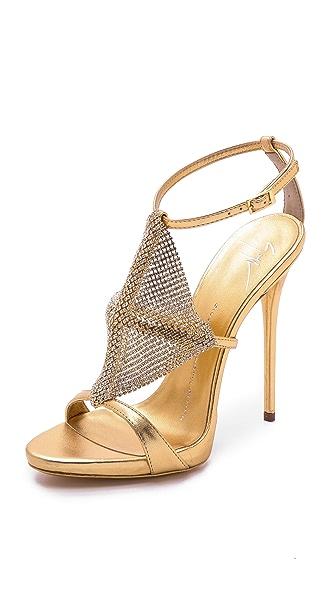 Giuseppe Zanotti Crystal Mesh Heels