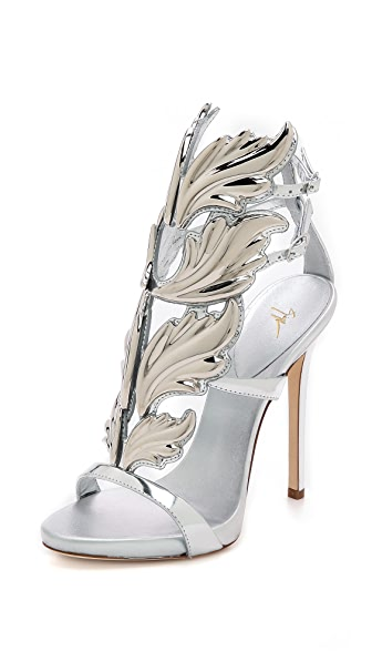 Giuseppe Zanotti Metal Wing Sandals - Silver