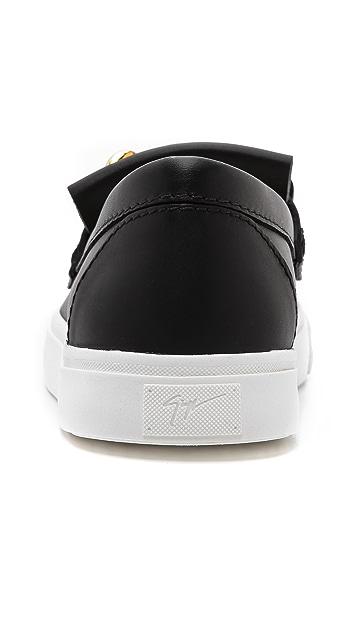 Giuseppe Zanotti Fringed Loafer Sneakers