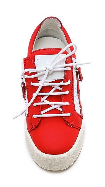 Giuseppe Zanotti Zip Low Top Sneakers