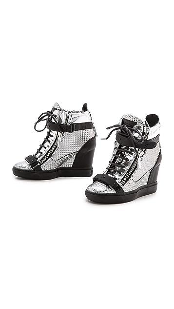 Giuseppe Zanotti Embossed Lorenz Sneakers
