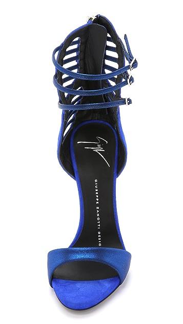 Giuseppe Zanotti Suede Strappy Heeled Sandals