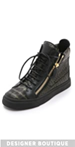 High Top Leather Sneakers                Giuseppe Zanotti