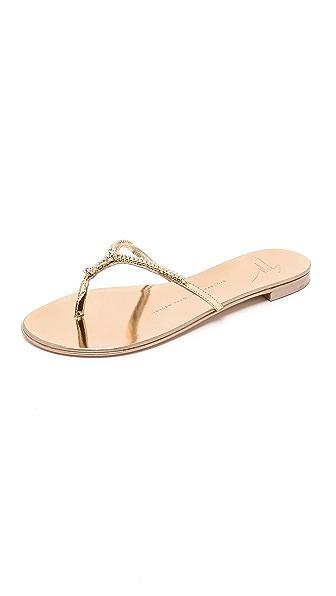 Giuseppe Zanotti Embellished Sandals - Rose Gold