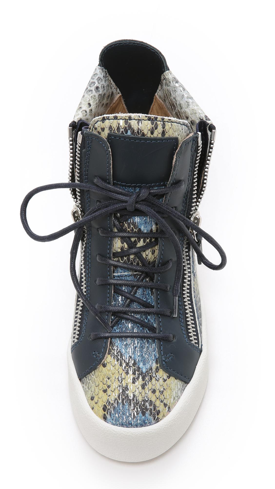 Giuseppe Zanotti Printed Snake Sneakers Shopbop D Island Shoes Style Hikers Dm Mens Leather Cokelat