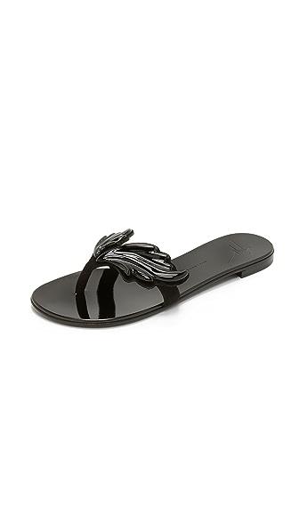 Giuseppe Zanotti Wing Sandals In Black