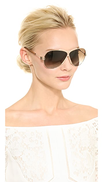 Givenchy MIddle Rim Aviator Sunglasses