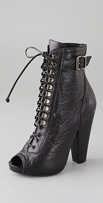 Givenchy Shoes Open Toe Lace Up Booties