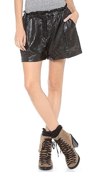 Glamorous Croc Embossed Shorts
