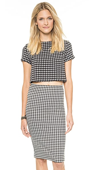 Glamorous Houndstooth Top