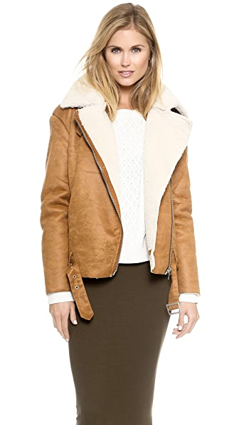 Glamorous Faux Shearling Jacket | SHOPBOP