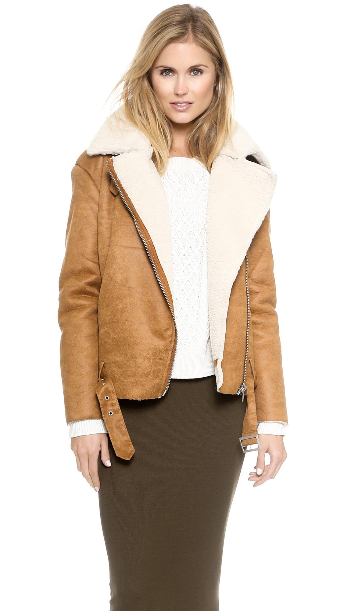 d28890323c2ec Glamorous Faux Shearling Jacket