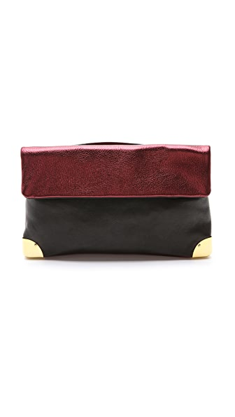 Golden Lane Small Metallic Duo Clutch