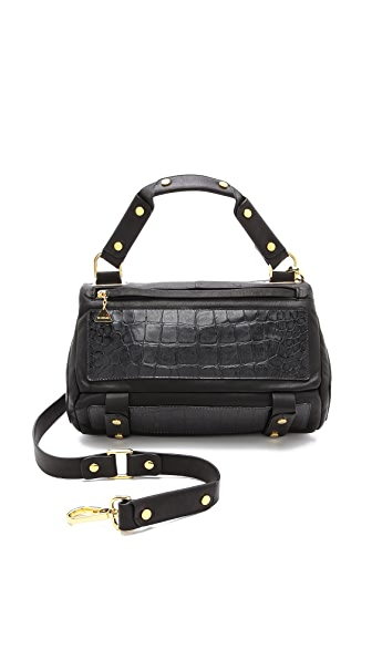 Golden Lane Small Croc Print Duo Satchel