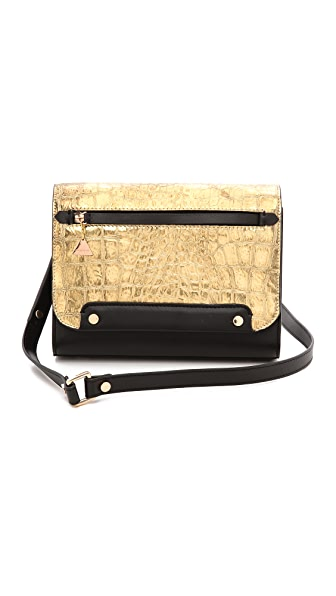 Golden Lane Gold Croc Mini Bag