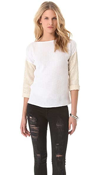 Generation Love Emily Boucle Sleeve Top