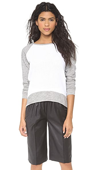 Generation Love Emma Perforated Front Sweatshirt