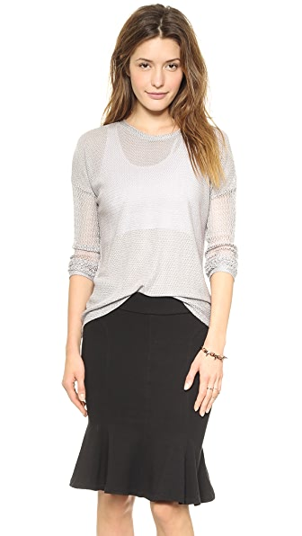 Generation Love Juliet Mesh Long Sleeve Top