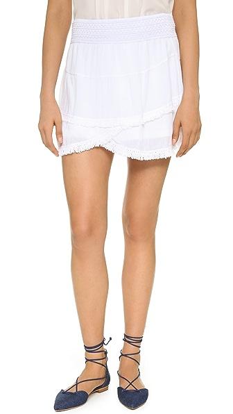 Generation Love Lillian Layered Fringe Skirt - White