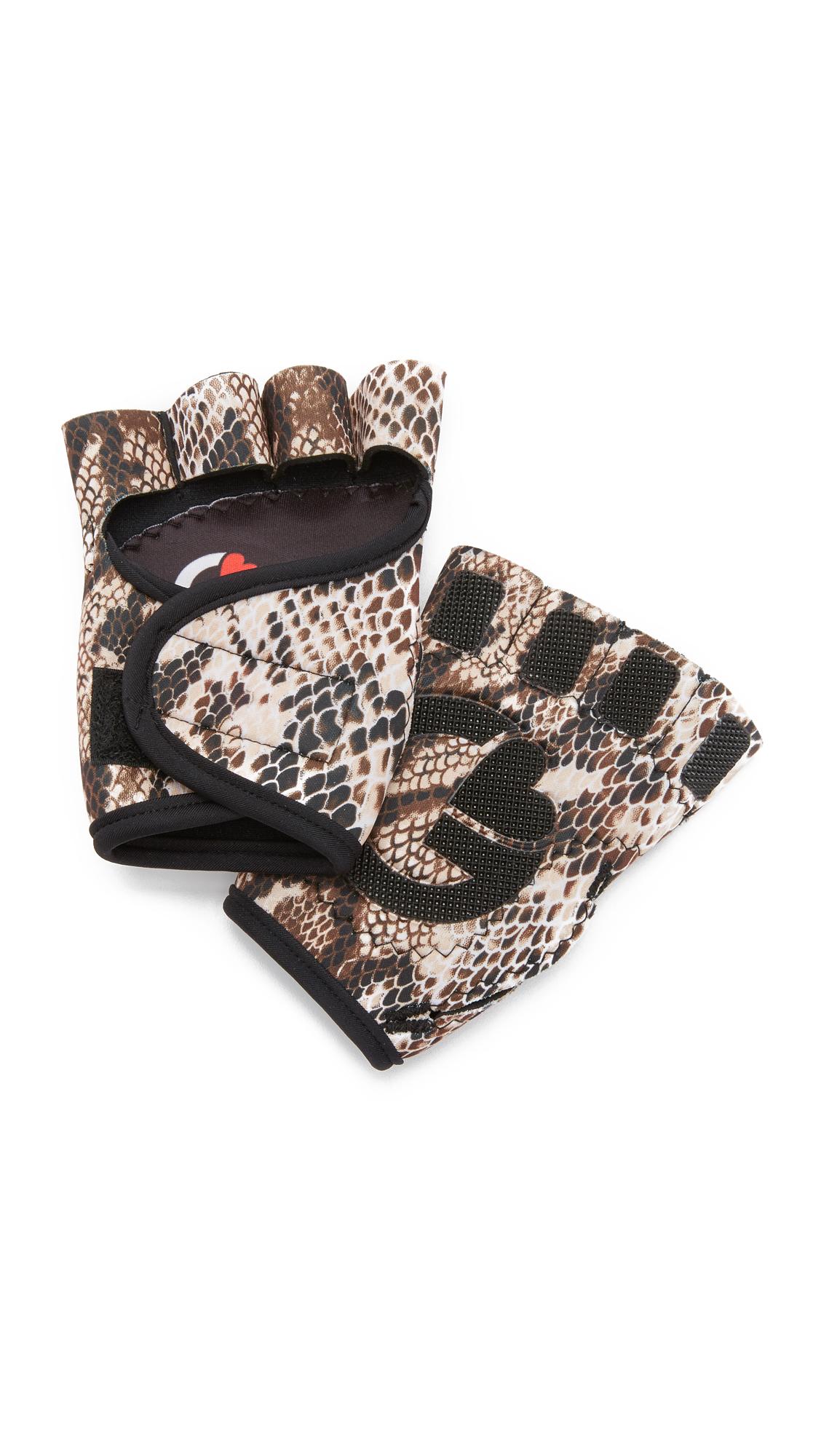G-Loves I'M A Slave 4 U Workout Gloves - Black/White at Shopbop