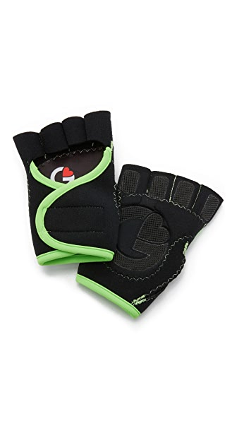 G-Loves Black with Lime Workout Gloves - Black/Lime